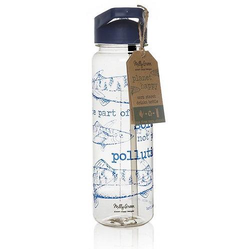 OCEAN CLEAR WATER BOTTLE 750ML - CORNSTARCH (PLA) & BPA FREE