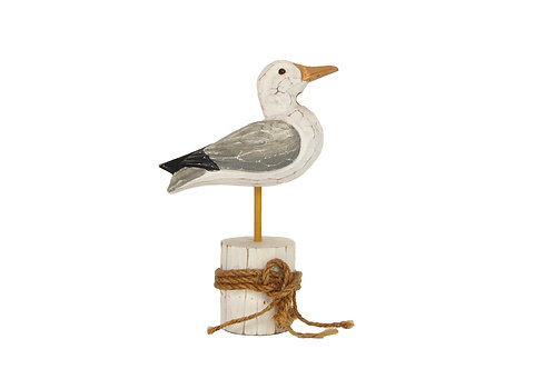 Gisela Graham Carved Wood Seagull on Block