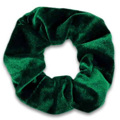 Scrunchie velvet hair tie Fir Green