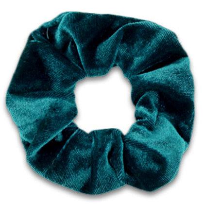Scrunchie velvet hair tie Peacock Green