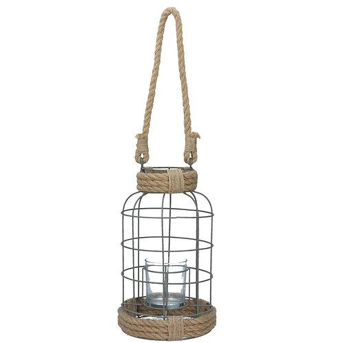 Gisela Graham Rope and Wire Nautical Lantern - Large