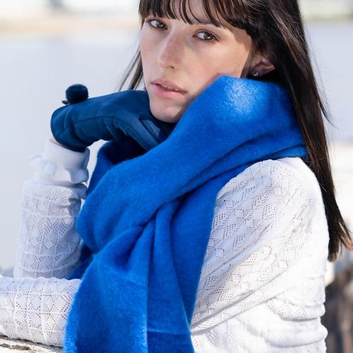 Soft Winter Plain Scarf Cobalt Blue