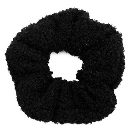 Scrunchie teddy hair tie Black