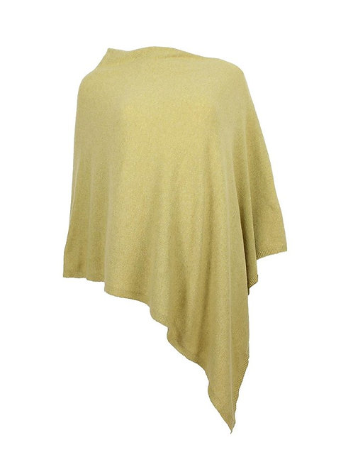 Classic Cashmere Blend Poncho AW20 Bamboo