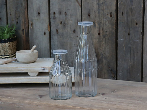 Glass Storage Bottle for Water/Juice With Airtight Lid