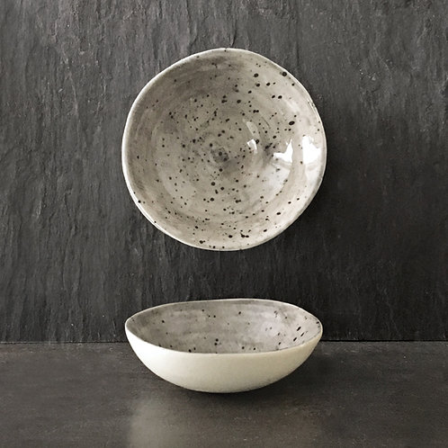 Sml hand painted bowl-Speckled wash