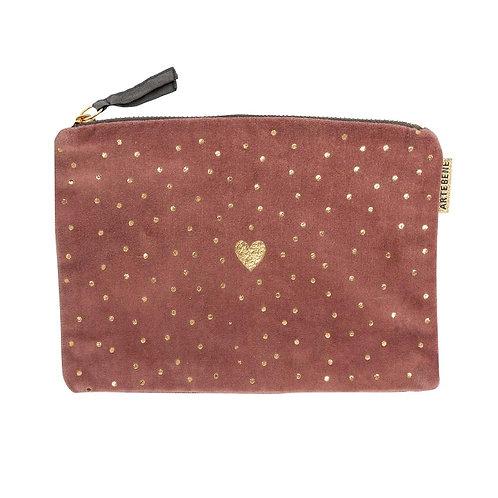 cosmetic bag/velvet/22x15cm