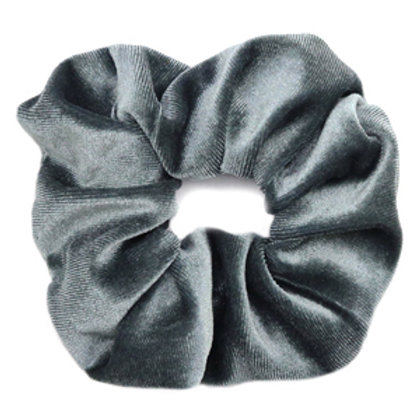 Scrunchie velvet hair tie Grey