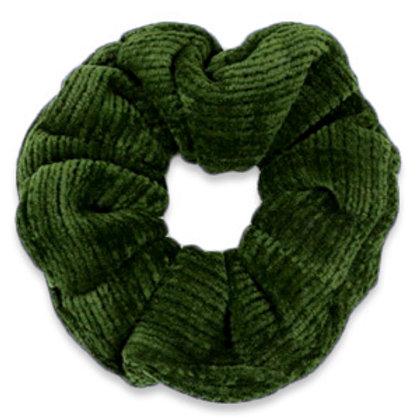 Scrunchie corduroy hair tie Dusty Olive