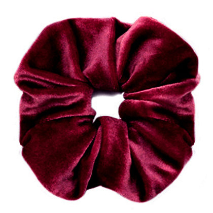 Scrunchie velvet hair tie Port Red