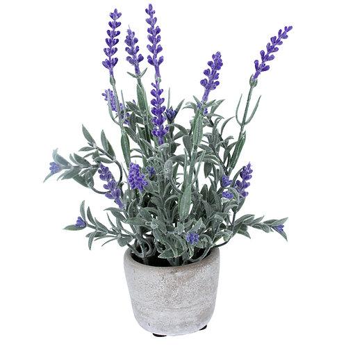 Gisela Graham Faux Lavender in Stone Effect Pot