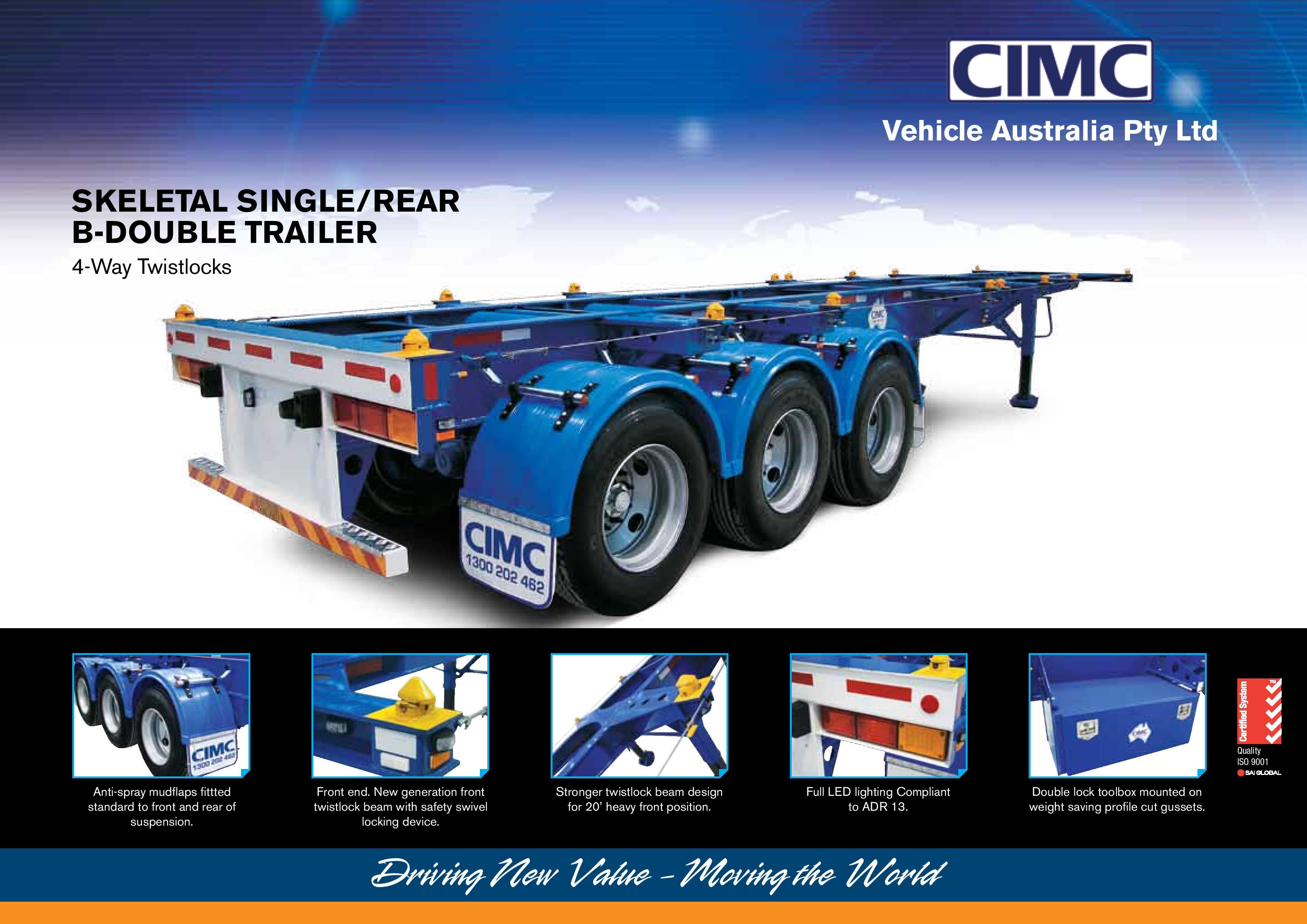 Standard B Trailer   CIMC Trailers   World Leading Semi