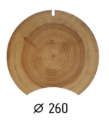 Оцилиндрованное бревно d.260 (1 куб.м.)