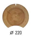 Оцилиндрованное бревно d.220 (1 куб.м.)