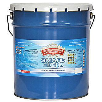 Царицыно эмаль ПФ-115 (20 кг) кремавая