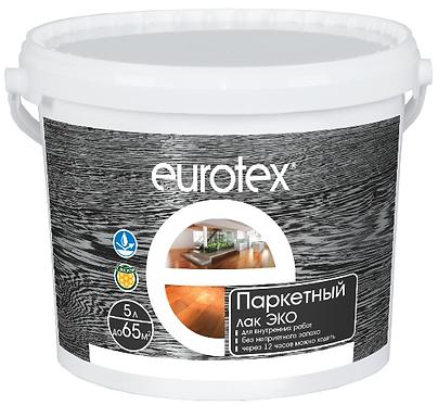 Eurotex паркетный лак ЭКО полуматовый (5 л)