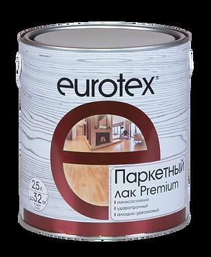 Eurotex Premium Лак паркетный полуматовый (2,5 л)