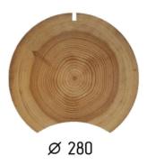Оцилиндрованное бревно d.280 (1 куб.м.)