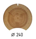 Оцилиндрованное бревно d.240 (1 куб.м.)