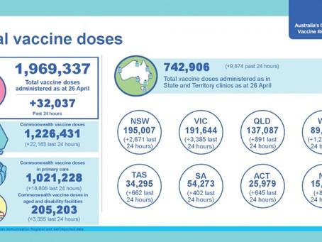 COVID-19 백신 호주정부 정보