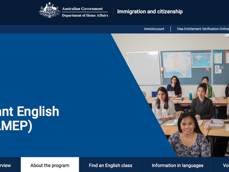 호주 정부에서 제공하는 영어 코스에 대한 정보