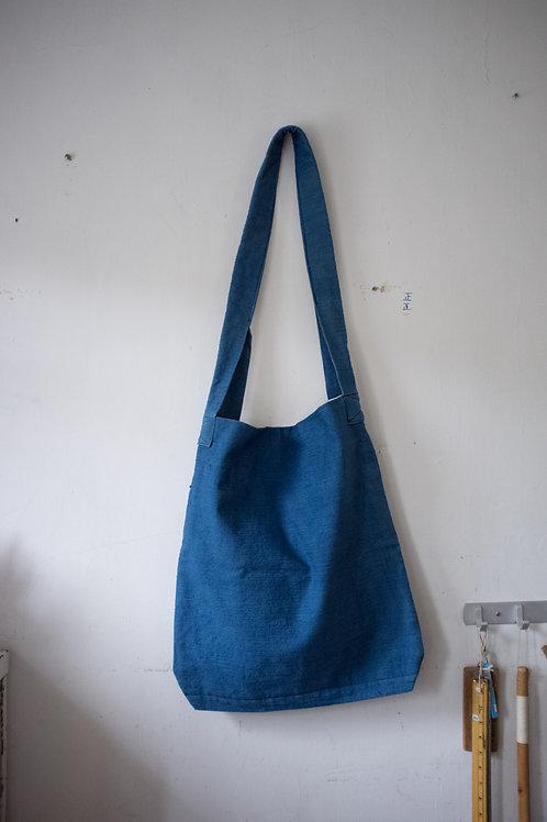 藍染厚帆布單揹帶
