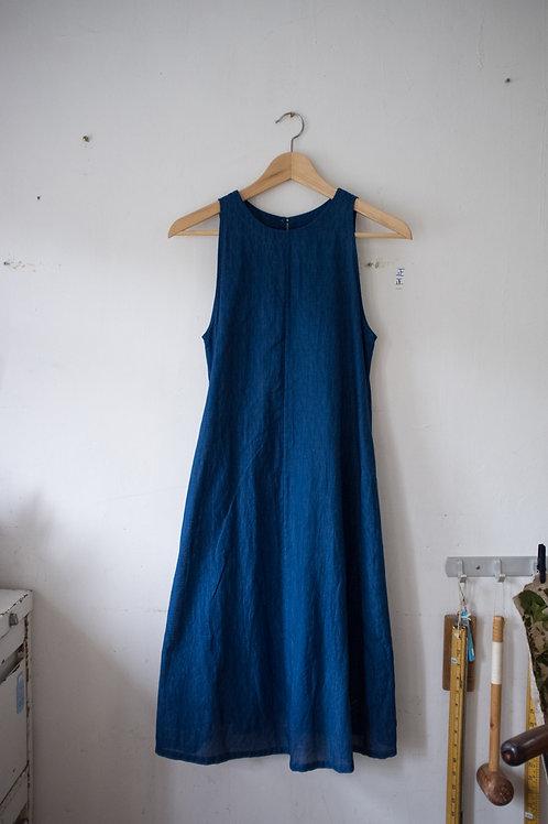 知多和布.藍染連身裙