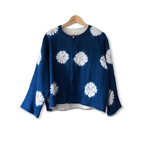 藍染日式花形女裝外套