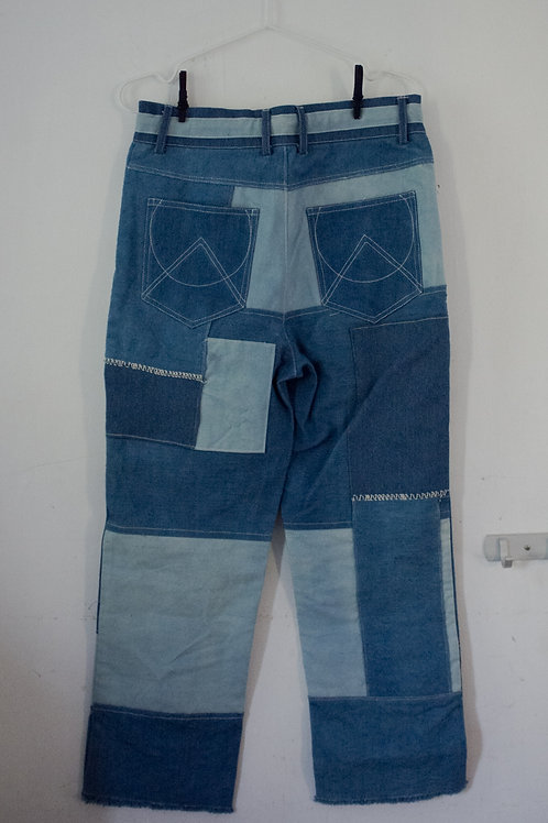 Indigo Patchwork Trousers