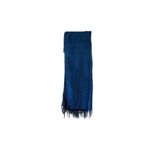 台灣厚身藍染頸巾