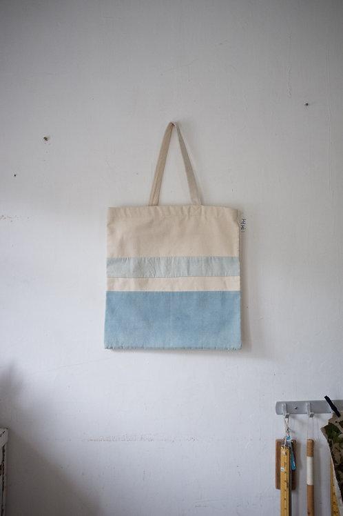 藍染橫間單揹布 Tote Bag