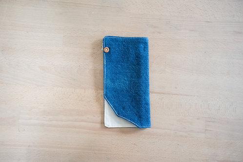 藍染拼布筆袋