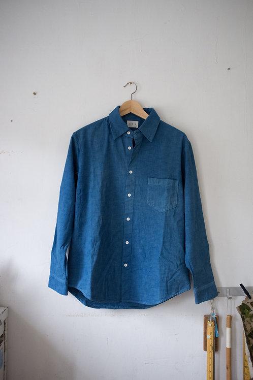 藍染長袖裇衫