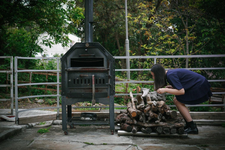 試驗的藍染班(包含一起做的秘製柴火烤的燒雞午餐)
