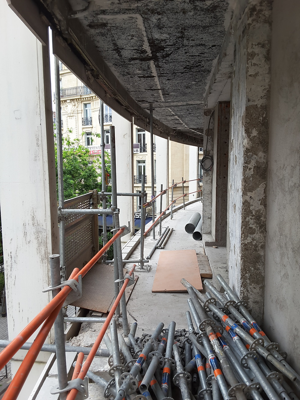 New balcony created on the 2nd floor