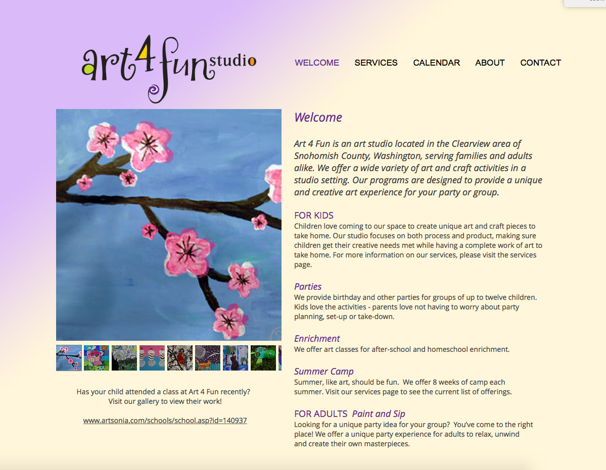 Art 4 Fun Website