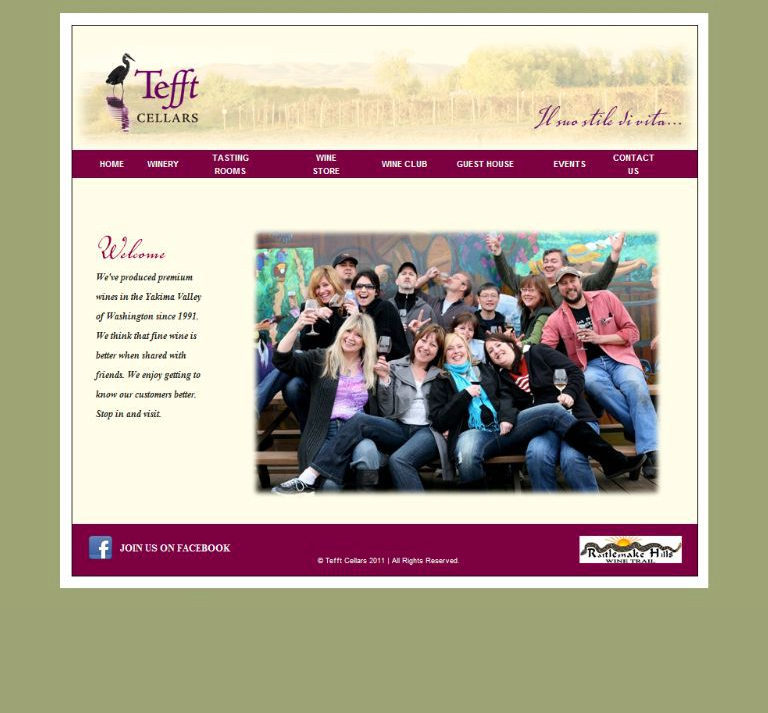 Tefft Cellars Website Design