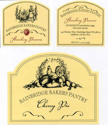 Banbridge Bakers Labels