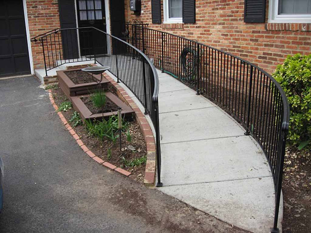Universal Sidewalk With Solid Iron Railing