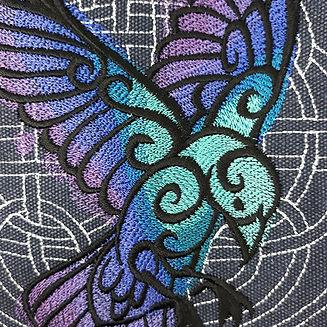 Celtic raven bag detail.jpg