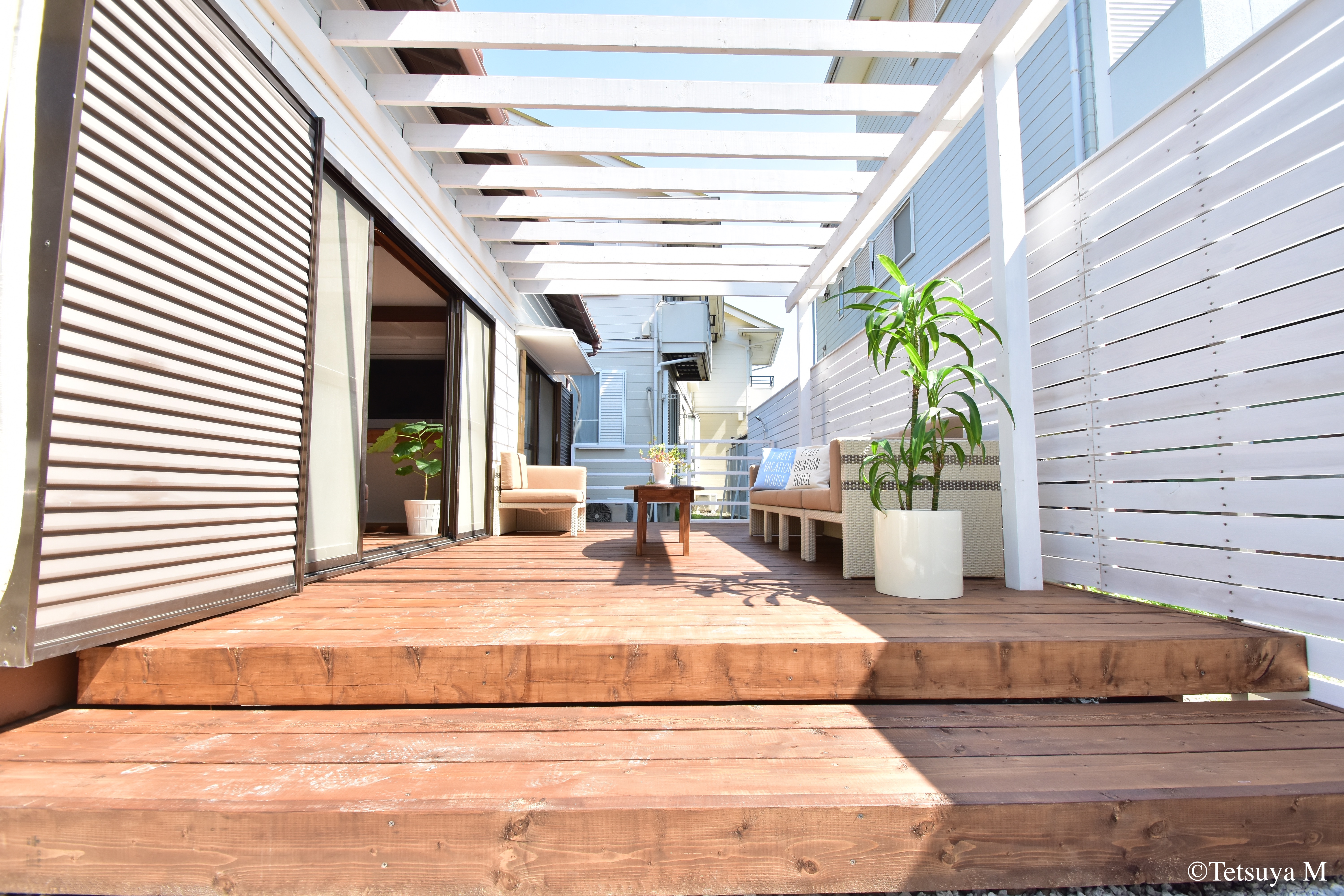 Wood deck terrace