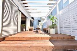 Wood deck terrace