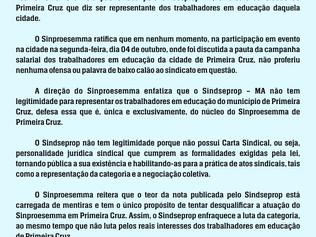 Das cinzas: Sindicato renasce e quer extrair base docente do SINPROESSEMA em Primeira Cruz