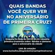 Enquete consulta primeira-cruzenses sobre bandas e cantores para o aniversário da cidade
