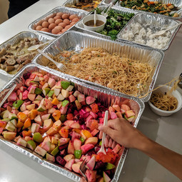 Menu options for catering available