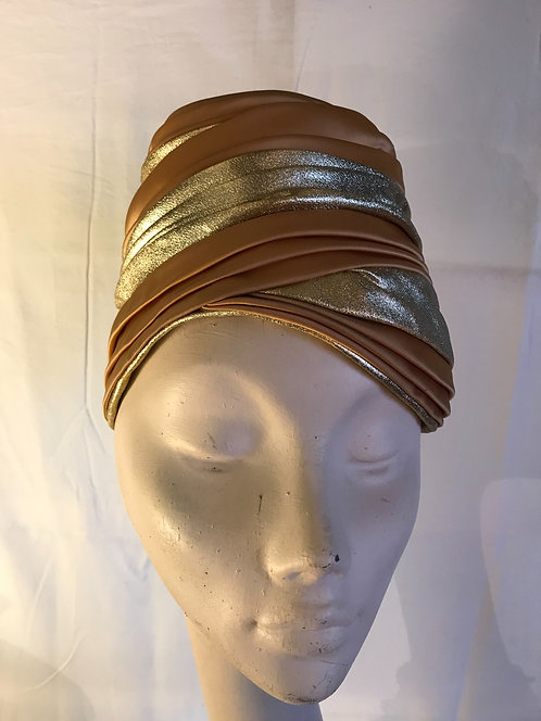 Evelyn Varon gold turban