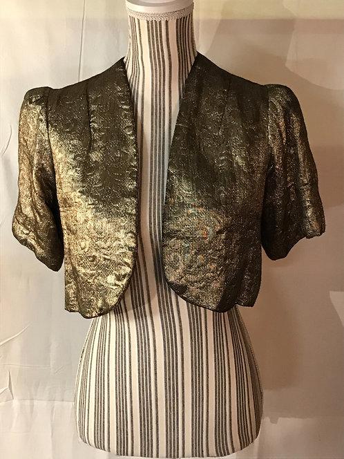 SOLD.1930s gold Lamé jacket.