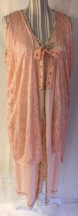 1920s silk Peignoir