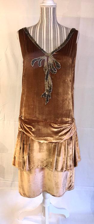 1920s velvet dress