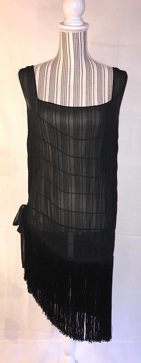 1920s silk flapper dress
